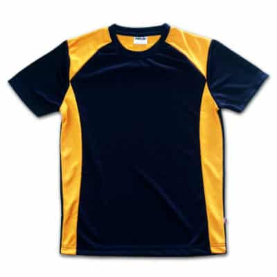 orange navy blue jersey